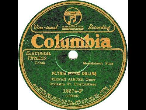 Polish 78rpm recordings, 1928. COLUMBIA 18274-F. Muzyka góralska. Płynie potok doliną