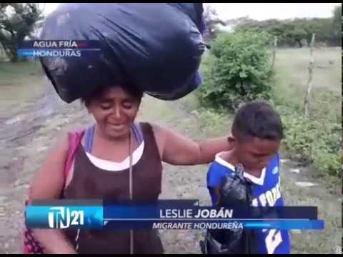 Migrantes hondureños dejan imágenes dramáticas en su camino a Estados Unidos