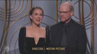 "Natalie Portman at Golden Globes 2018 ""All Male Nominees"""