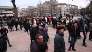 Крым, Симферополь, Площадь Ленина 3.03.2014. Crimea, Simferoipol Lenina square.