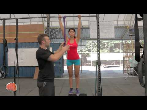 Resistance Band Assisted Pull Up (From Foot)