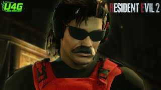 Dr Disrespect Mod in Resident Evil 2 Remake Gameplay and Cutscenes 1440p60