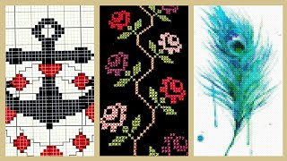 Vintage Cross Stitches Pattern Awesome Embroidery Design