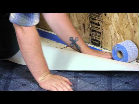 How to Install a Vinyl Floor With Tape : Working on Flooring