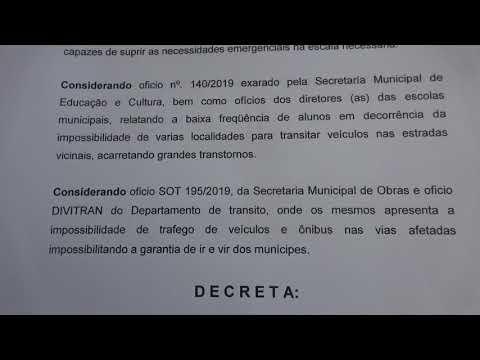 Prefeito Ayres Scorsatto decreta situação de emergência no município de Juquitiba