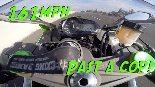 Flying past a cop at 161MPH[MotoVlog-ish]