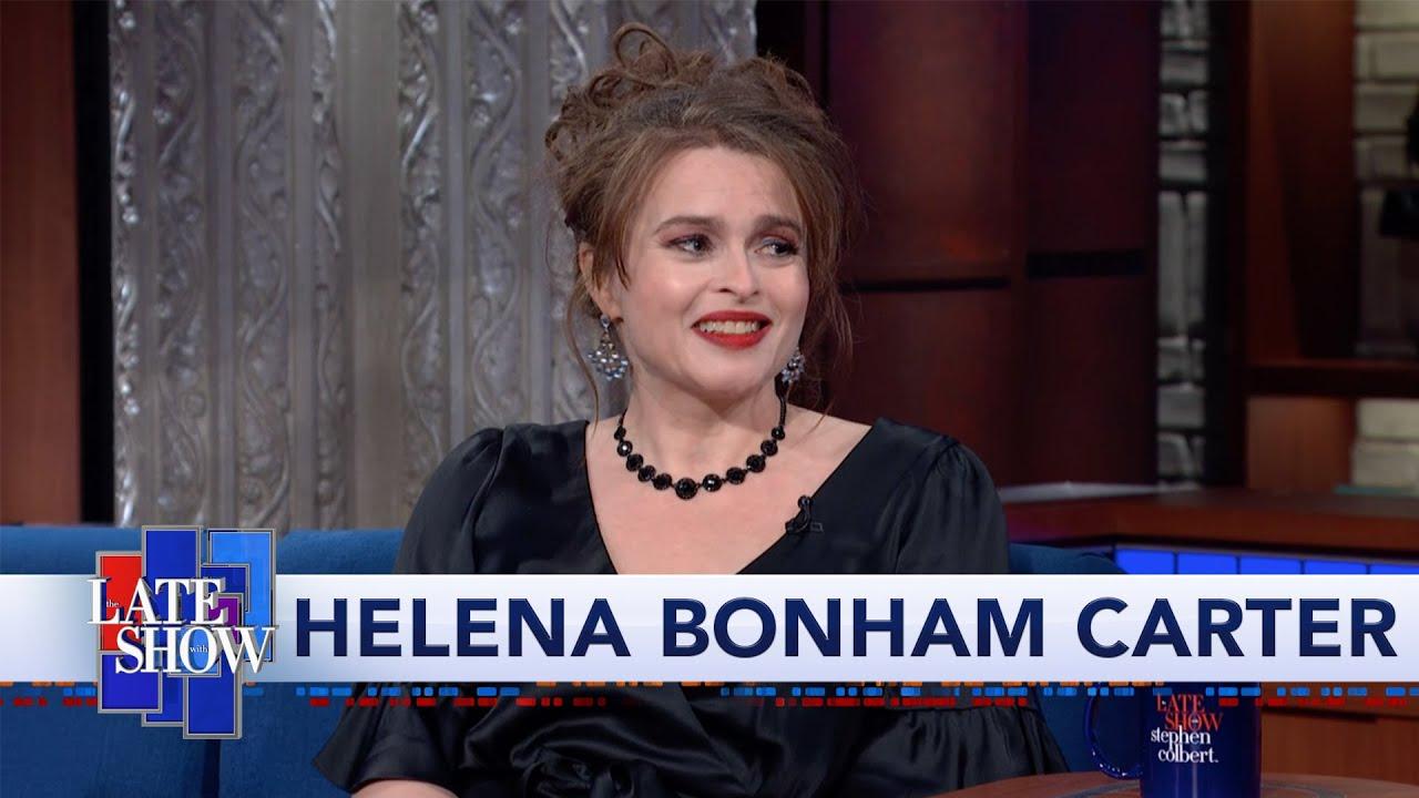Helena Bonham Carter Spills The Tea To Stephen Colbert thumbnail