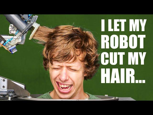 Автономный робот-парикмахер подстриг своего бесстрашного создателя