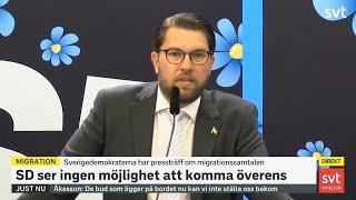 Jimmie Åkessons presskonferens om massinvandringen till Sverige