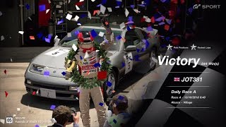 JOT381 GRAN TURISMO SPORT 131018 ALSACE NISSAN 300ZX 1st to 1st FASTEST LAP 3 LAPS 844th WIN