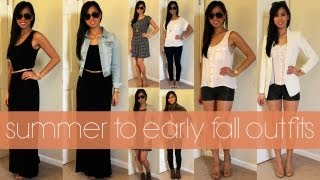 Summer To Early Fall Outfits ♡