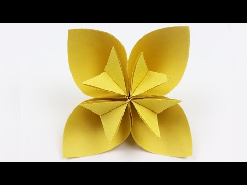 How To Make An Origami Kusudama Flower Easy Origami Paper Flowers