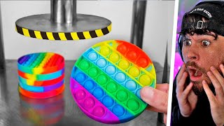 HYDRAULIK PRESSE vs POP IT (1 ½ Sekunden / Experiment)