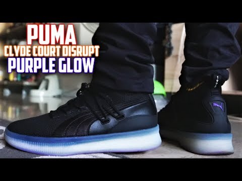 Puma Clyde Court Disrupt PURPLE GLOW Review and On-Feet! | SneakerTalk365