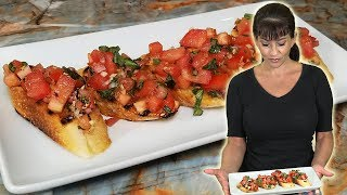 Authentic Italian Tomato And Basil BRUSCHETTA   The Perfect Appetizer
