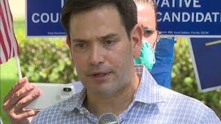 Florida Republic Senator Marco Rubio stands with President Trump on vote by mail position