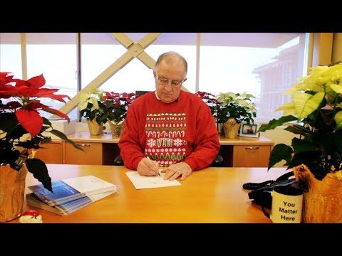 Happy Holidays from Vancouver Island University President Ralph Nilson