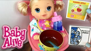 Crawling Baby Alive Go Bye-Bye Doll Morning Routine Feeding and Diaper Change