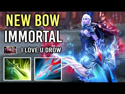 NEW ULTRA RARE IMMORTAL BOW Drow Ranger Reaper's Wreath Most Epic Gameplay by Sneyking 7.21 Dota 2