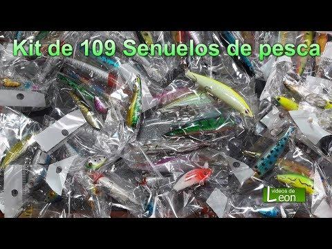 Kit de 109 Señuelos de pesca, Tarariras Dorados Super Efectivos