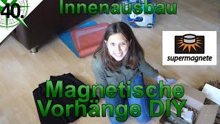 Innenausbau | Magnetische Vorhänge DIY | Supermagnete.de | VW T4 Syncro Offroad Camper | #40.