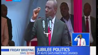 DP Ruto denies claims of division within Jubilee