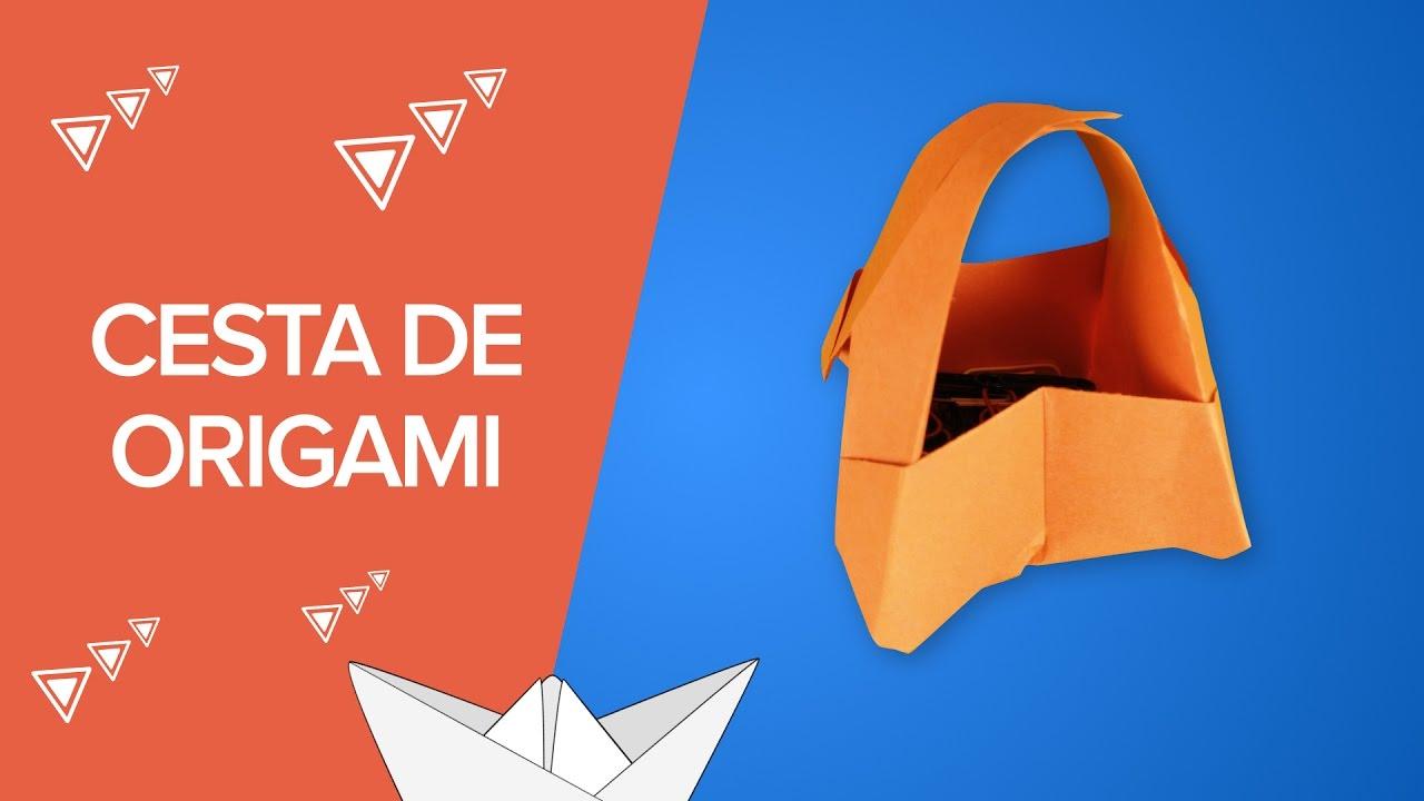 Origami | Cómo hacer una cesta o canasta de papel