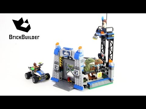 Vidéo LEGO Jurassic World 75920 : L'évasion du Vélociraptor