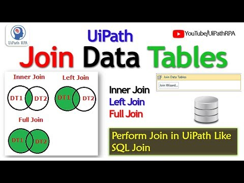 Video Uipath-join Data Tables|excel Automation|uipath Rpa Tutorial