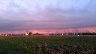 Appleton, Wisconsin Shelf Cloud at Sunrise