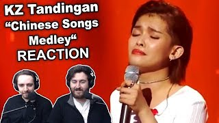 "Singers Reaction/Review to ""KZ Tandingan - Chinese Songs Medley"""