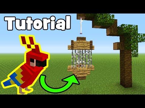 Minecraft Tutorial: How To Make A Parrot/Bird Cage | E-tutorial