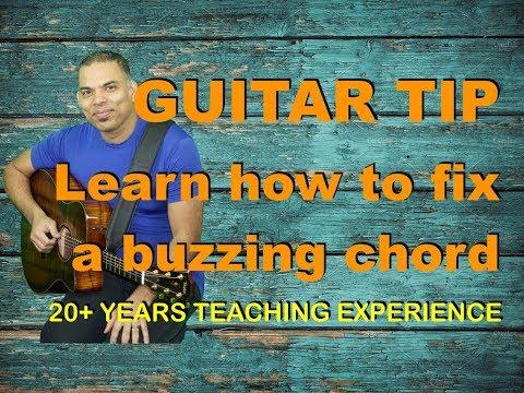 Beginning Guitar Tip: Fix a buzzing chord.