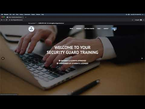 How to Start Security Guard Training Online - YouTube