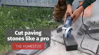 How to cut paving stones with an angle grinder (An easy DIY project - Part 2)