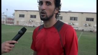 لقاء مع لاعب وسط نادى الزرقا الاعب محمد العادلى.تقرير عبدة سليم .