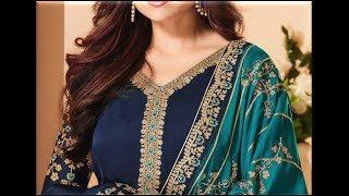 TOP 50 Blue Colours Combination Ideas For Suits Kurti Dresses || Navy Blue Colour Contrast Dresses
