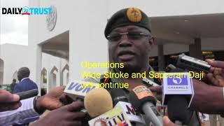 Security chiefs brief Buhari, say military ops to continue (video)