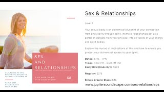 Sex And Relationships. 6 Week Course