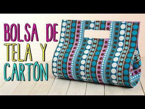 7c76d54fa Bolsa de Tela - Paso a Paso Sin coser - Bolso de Fiesta de Cartón ...