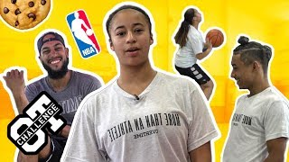 Jaden Newman's Going To Be The FIRST FEMALE In The NBA! Blasts Bro Julian In The Overtime Challenge!