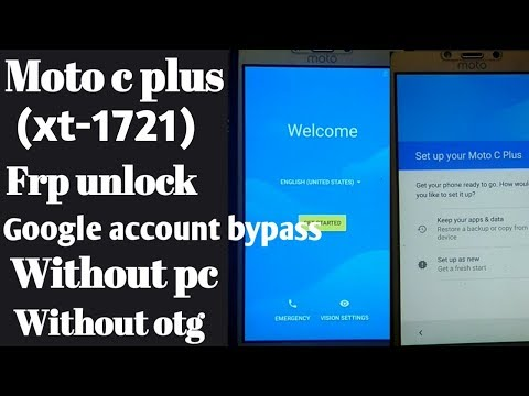 moto c plus Frp Unlock without PC & OTG - смотреть онлайн на