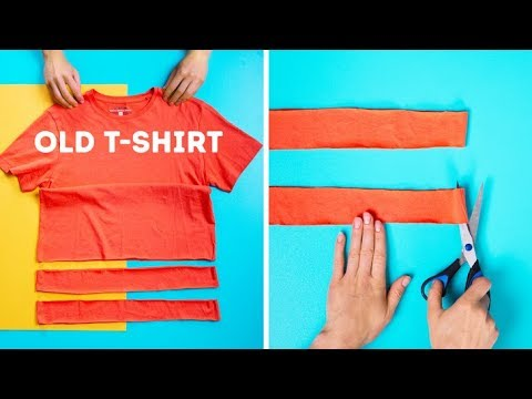 25 COOL T-SHIRT LIFE HACKS AND DECOR IDEAS