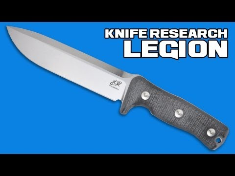"Knife Research Legion SC Fixed Blade Knife Brown G10 (6.7"" Satin)"