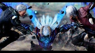 Devil May Cry 5 Dante VS Nero VS Vergil Final Battle and Normal Ending