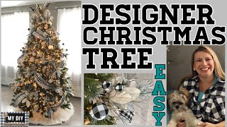 How to decorate a Designer Christmas Tree | Ribbon on Christmas Tree | EASY!!