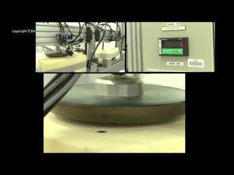 Essais de composants : Âme en mousse, latex, ressorts