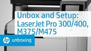 Hp Laserjet Pro 300 400 Color Mfp M375 M475 Setting Up The Printer Hardware Hp Customer Support