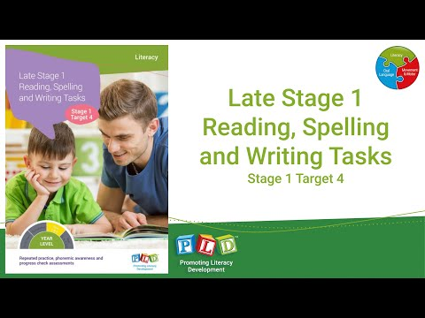 Late Stage 1 Reading, Spelling and Writing Tasks - Stage 1, Target 4