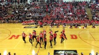 Milford High School Dance Team Pep Rally Performance 2015!